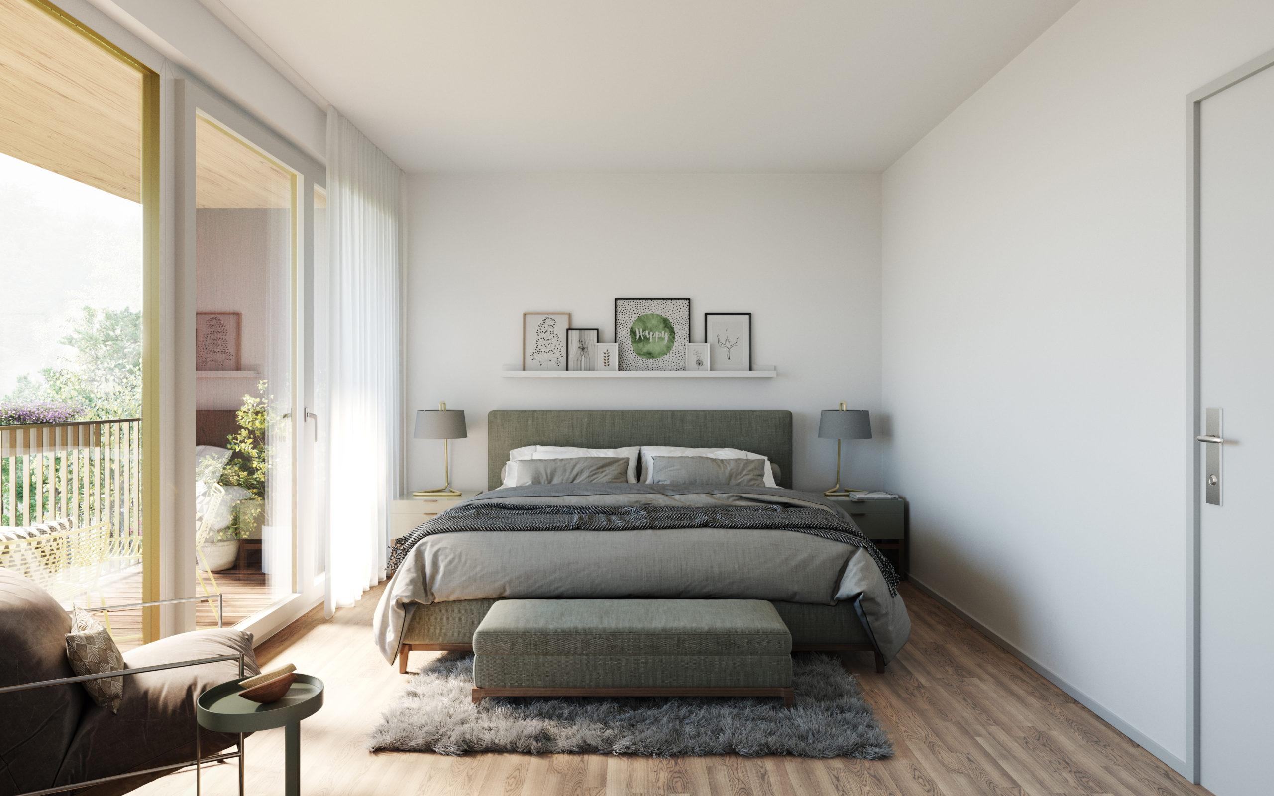 Innenvisualisierung Schlafzimmer