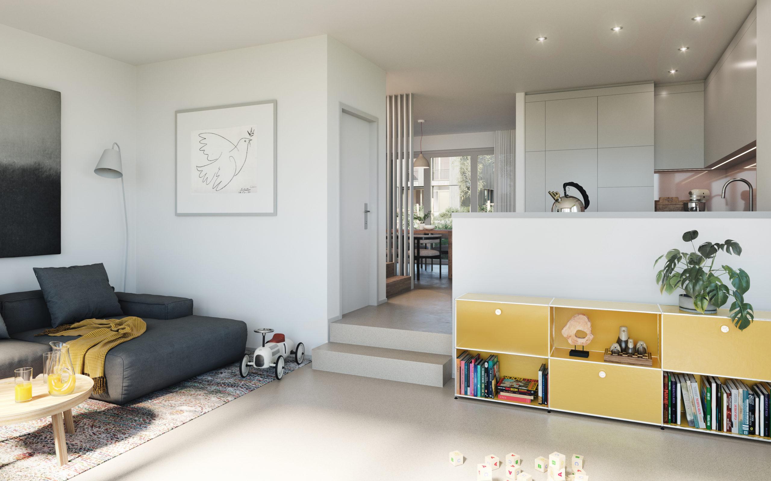 Innenvisualisierung Wohnzimmer 2